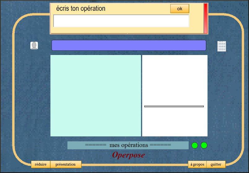 Operpose 4 un logiciel pour poser les additions et les for Logiciel pour empecher les fenetre publicitaire