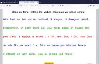 Cycle 3 Conjugaison Le Passe Simple Cartable Fantastique